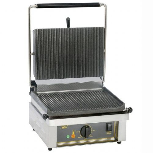 Roller Grill PANINI Large Single - Ribbed Top & Base Plates Contact Grills